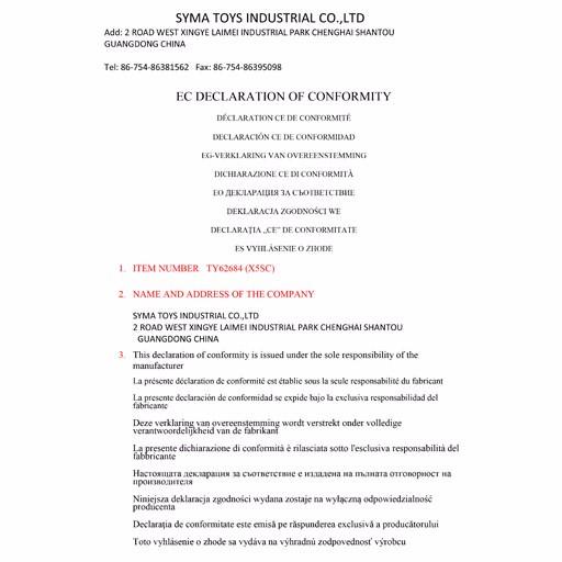 EC declaration (X5SC)