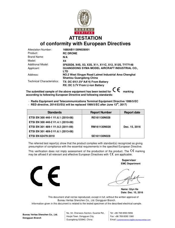 BMS X4 - RED Directive Conformity -15 Dec 2016